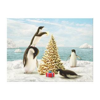 "Alan Giana ""Merry Penguins"" Canvas Print"