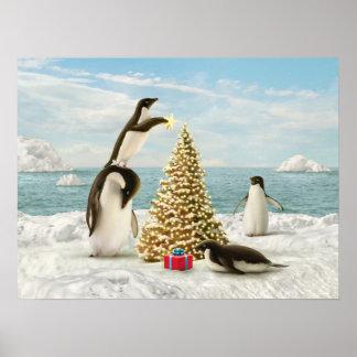 """Alan Giana """"Merry Penguins"""" Poster"""