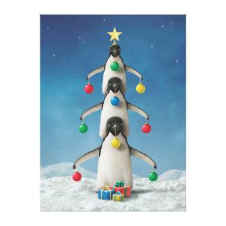 """Alan Giana """"Oh Penguin Tree"""" Canvas Print"""