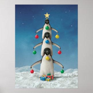 "Alan Giana ""Oh Penguin Tree"" Poster"