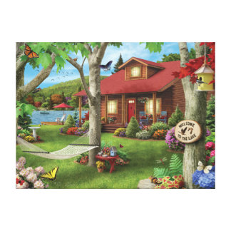 "Alan Giana ""Welcome to the Lake"" Canvas Print"