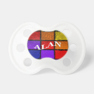 ALAN (male names) Baby Pacifiers