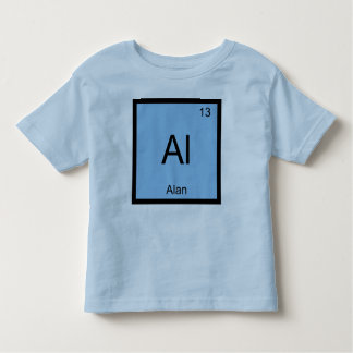 Alan Name Chemistry Element Periodic Table Toddler T-Shirt