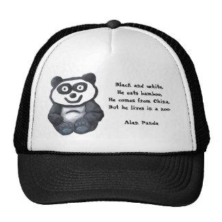 Alan Panda, Black and white,He eats bamboo,He c... Cap