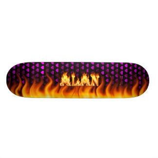 Alan skateboard fire and flames design.