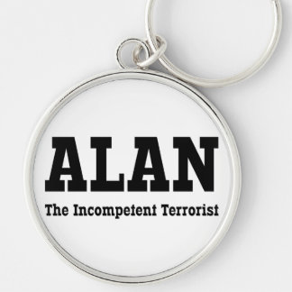 Alan - The Incompetent Terrorist Silver-Colored Round Key Ring