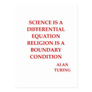 alan TURING quote Postcard