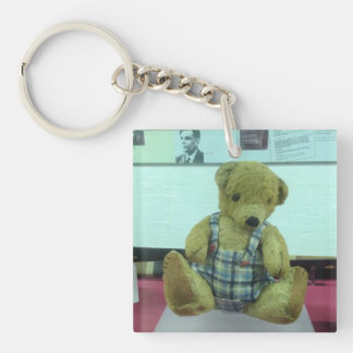 Alan Turing's teddy bear Double-Sided Square Acrylic Key Ring