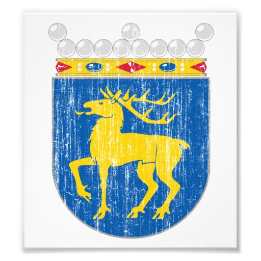 Aland Coat Of Arms Photographic Print