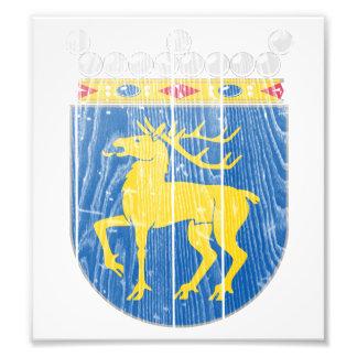 Aland Coat Of Arms Art Photo