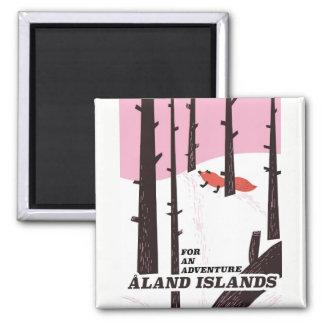 Åland Islands, Finland travel poster Magnet