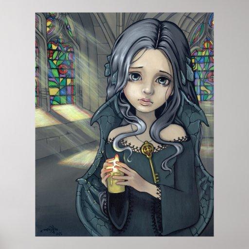 Alannah Art Print gothic fantasy fairy