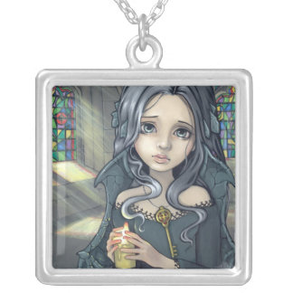 Alannah NECKLACE gothic fairy candle