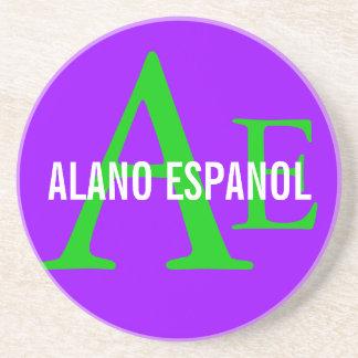 Alano Espanol Breed Monogram Drink Coasters