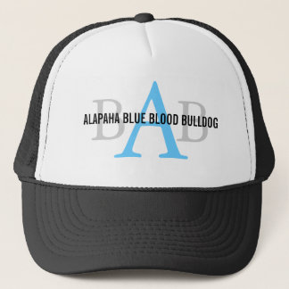 Alapaha Blue Blood Bulldog Monogram Trucker Hat