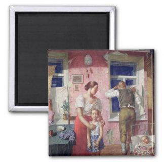 Alarm, 1934 square magnet