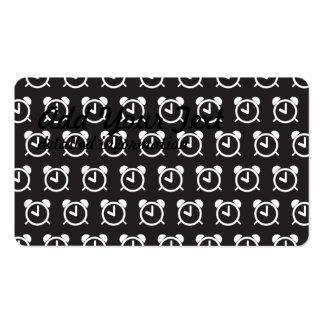 Alarm Clock black white Pack Of Standard Business Cards