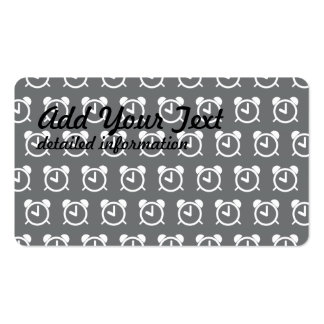 Alarm Clock grey white Pack Of Standard Business Cards