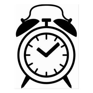 alarm clock icon post card