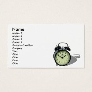 AlarmClockCard, Name, Address 1, Address 2, Con...