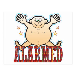 Alarmed Fat Man Postcard