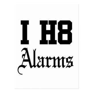 alarms postcard