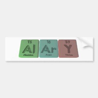 Alary-Al-Ar-Y-Aluminium-Argon-Yttrium Bumper Sticker