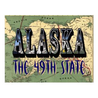 Alaska 1897 State Map Post Card