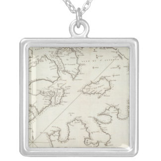 Alaska 4 silver plated necklace
