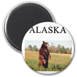 alaska 6 cm round magnet