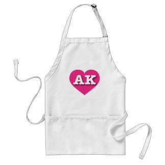 Alaska AK hot pink heart Adult Apron