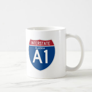 Alaska AK I-A1 Interstate Highway Shield - Basic White Mug