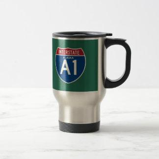 Alaska AK I-A1 Interstate Highway Shield - Stainless Steel Travel Mug