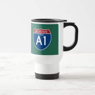 Alaska AK I-A1 Interstate Highway Shield - Travel Mug