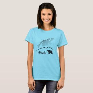Alaska (AK) Kodiak brown bear - Black Logo T-Shirt