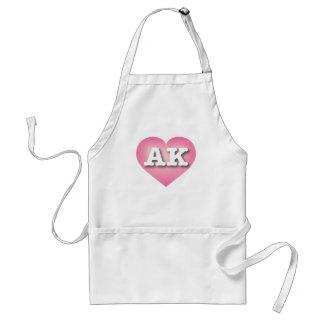 Alaska AK pink fade heart Adult Apron