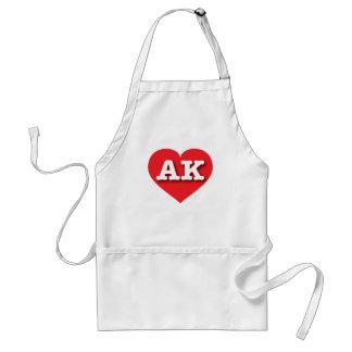Alaska AK red heart Adult Apron