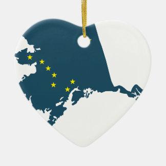 Alaska America Ceramic Heart Decoration