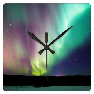 Alaska Aurora Wall Clock