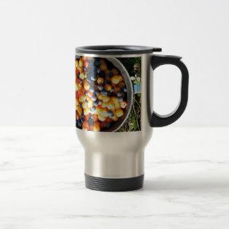 alaska berries stainless steel travel mug