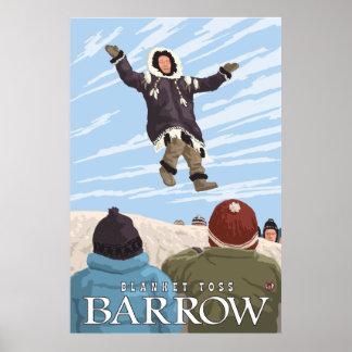 Alaska Blanket Toss - Barrow, Alaska Poster