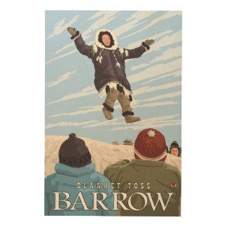 Alaska Blanket Toss - Barrow, Alaska Wood Print