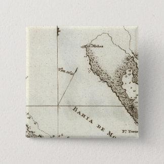 Alaska Book Map 15 Cm Square Badge