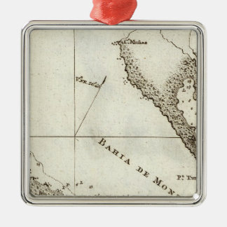 Alaska Book Map Christmas Ornament