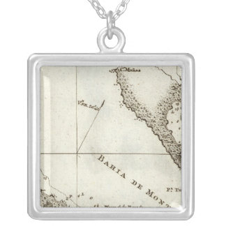 Alaska Book Map Silver Plated Necklace