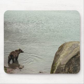 Alaska Brown Bear (Grizzly) Lake Mouse Pad