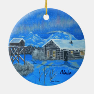 Alaska Bush Homestead Christmas Ornament