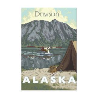 Alaska Bush Plane And Fishing Travel Canvas Print