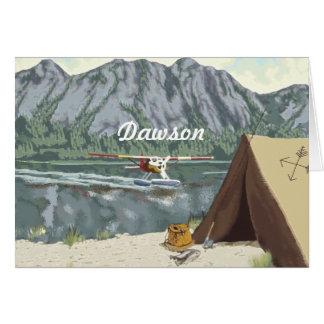 Alaska Bush Plane And Fishing Travel Card