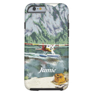 Alaska Bush Plane And Fishing Travel Tough iPhone 6 Case